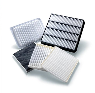 Several Toyota cabin air filters.